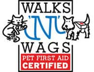 Walks N Wags Pet First Aid Certified